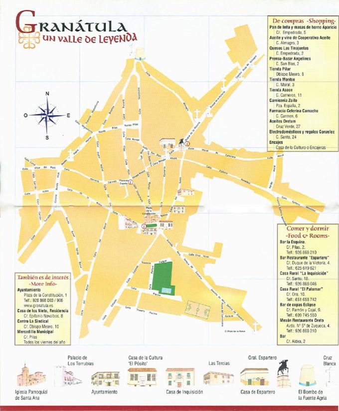 mapa de Granátula